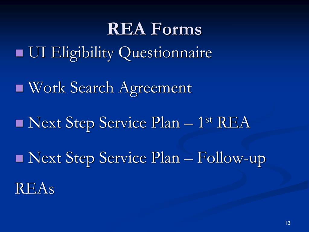 REA Forms