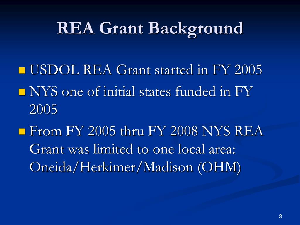REA Grant Background
