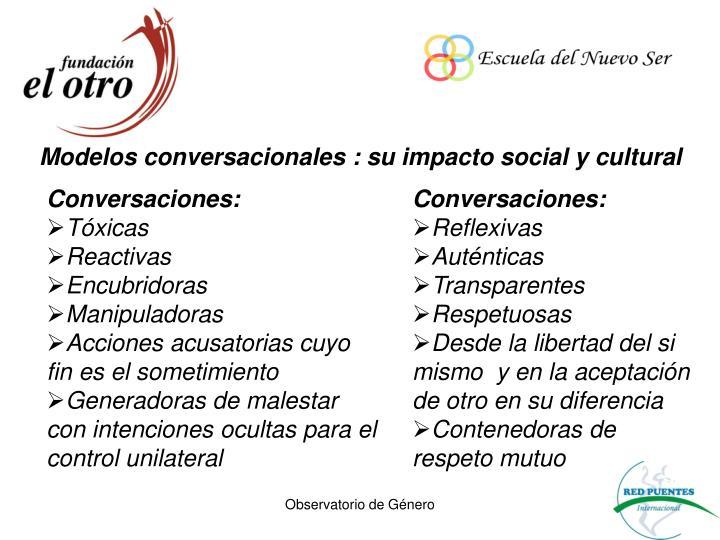 Modelos conversacionales : su impacto social y cultural
