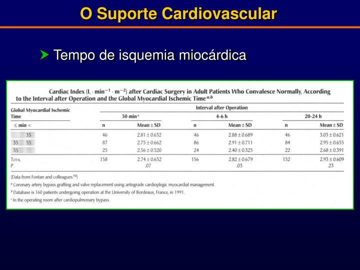 O Suporte Cardiovascular