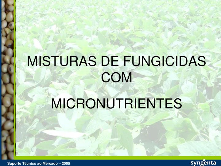 MISTURAS DE FUNGICIDAS COM