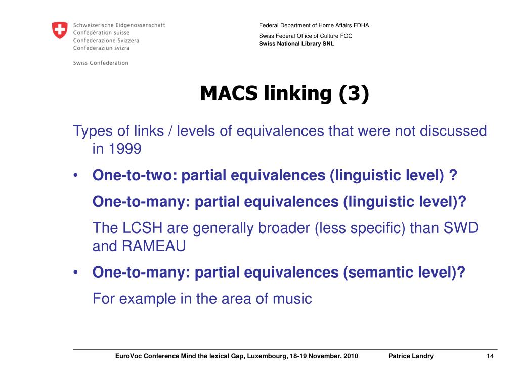 MACS linking (3)