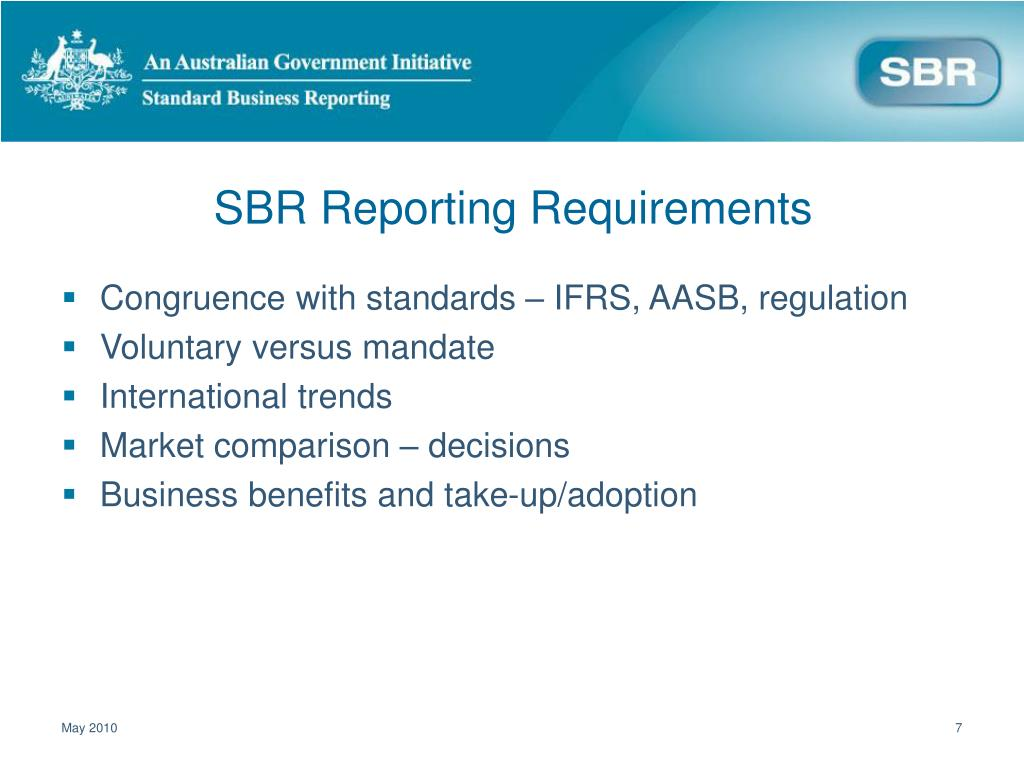 SBR Reporting Requirements