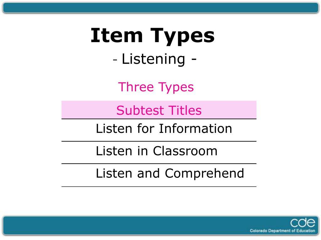 Item Types