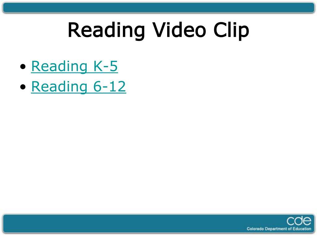 Reading K-5