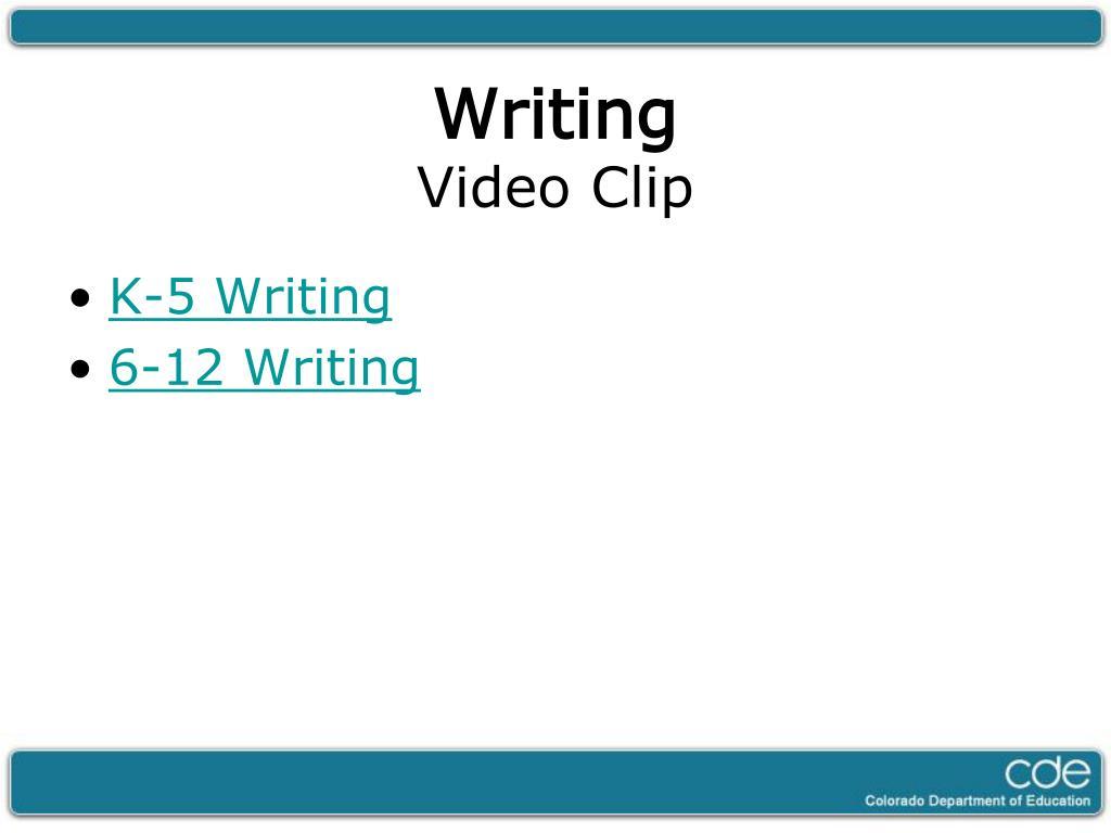 K-5 Writing