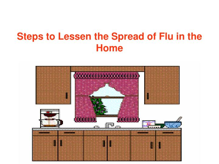 Steps to Lessen the Spread of Flu in the Home
