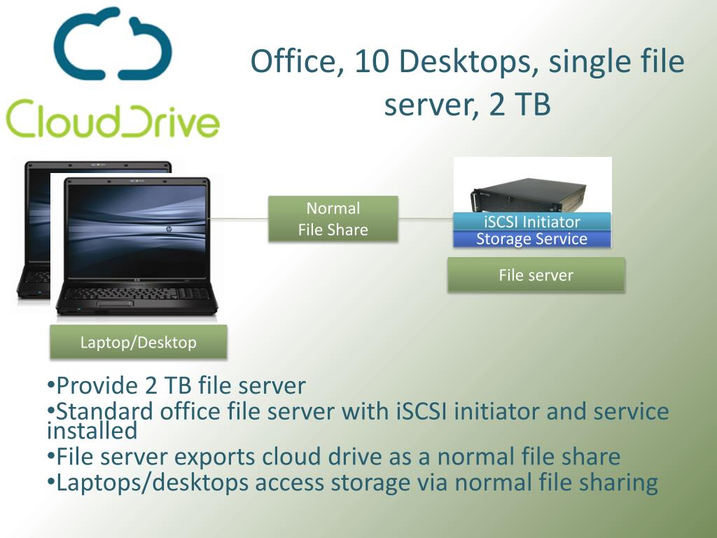 Office, 10 Desktops, single file server, 2 TB