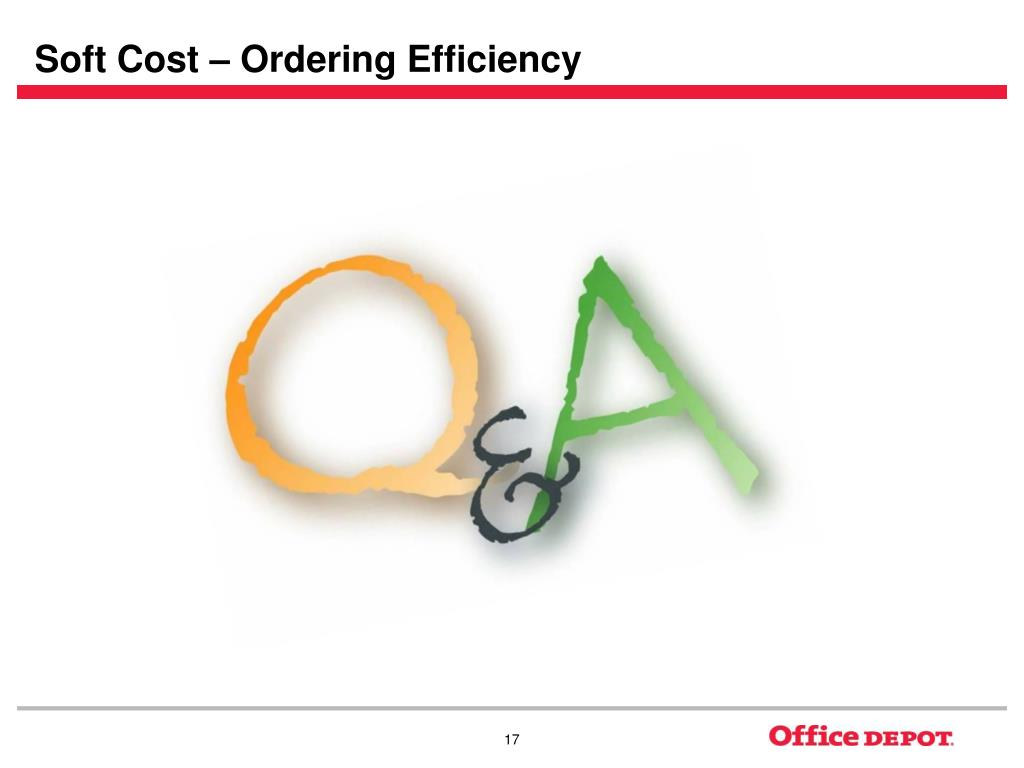 Soft Cost – Ordering Efficiency