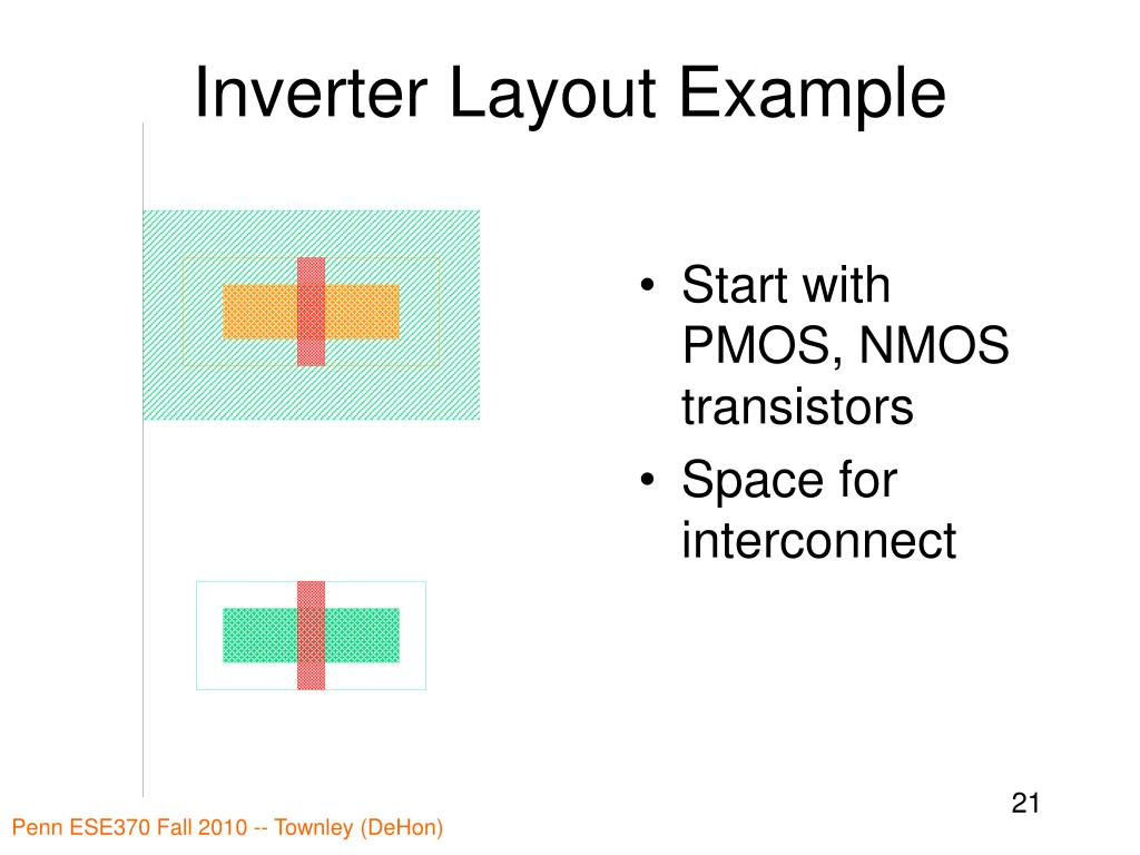 Inverter Layout Example