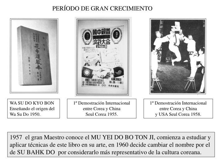 PERÍODO DE GRAN CRECIMIENTO