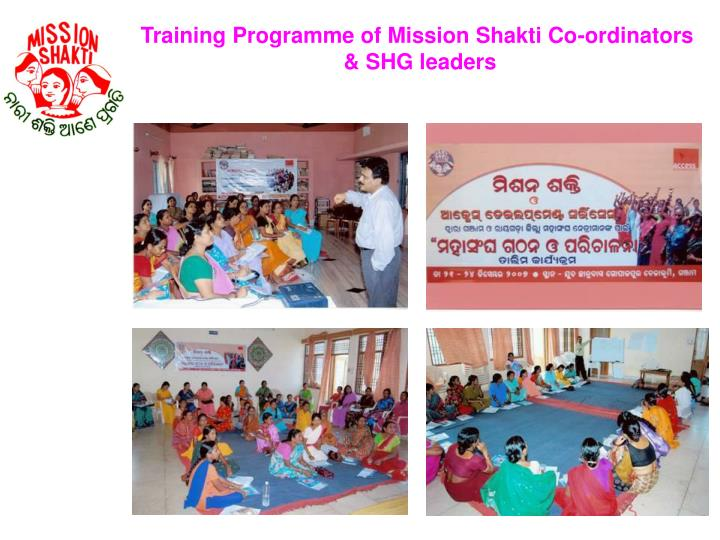 Training Programme of Mission Shakti Co-ordinators
