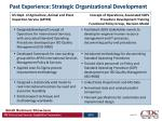 past experience strategic organizational development