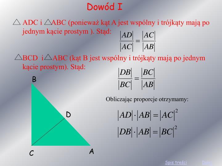 Dowód I