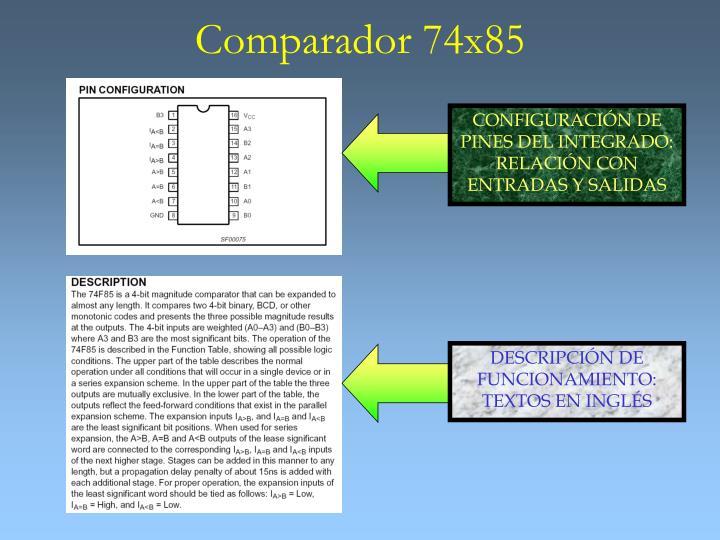 CONFIGURACIÓN DE PINES DEL INTEGRADO: RELACIÓN CON ENTRADAS Y SALIDAS