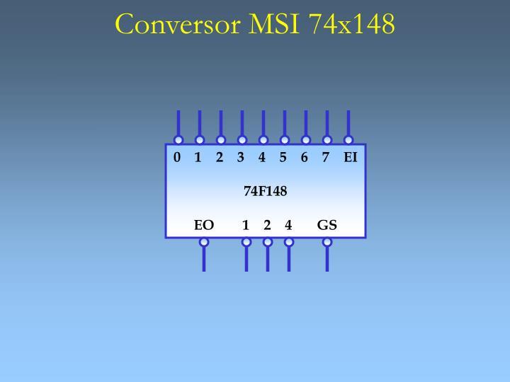 Conversor MSI 74x148