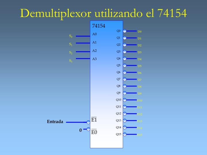 Demultiplexor utilizando el 74154