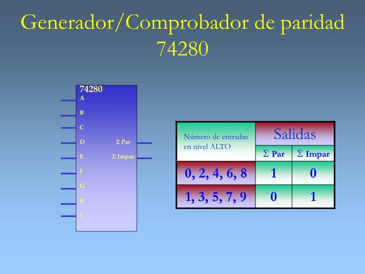 Generador/Comprobador de paridad