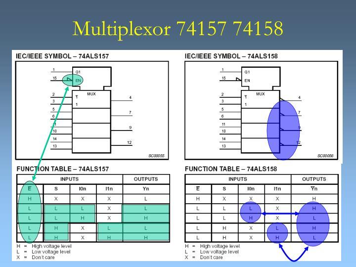 Multiplexor 74157 74158
