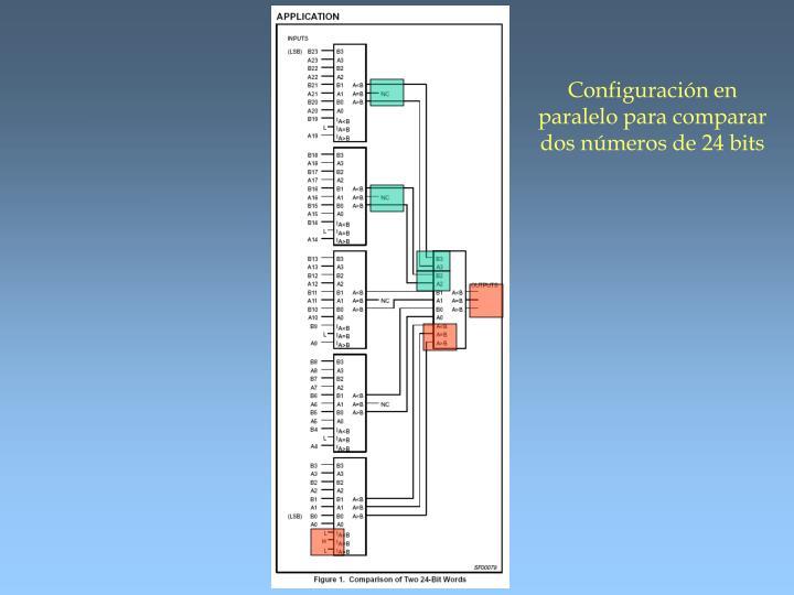 Configuración en paralelo para comparar dos números de 24 bits