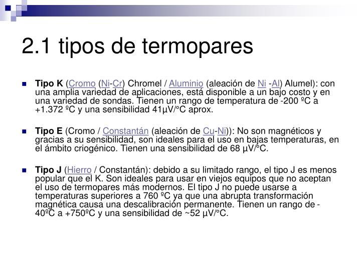 2.1 tipos de termopares