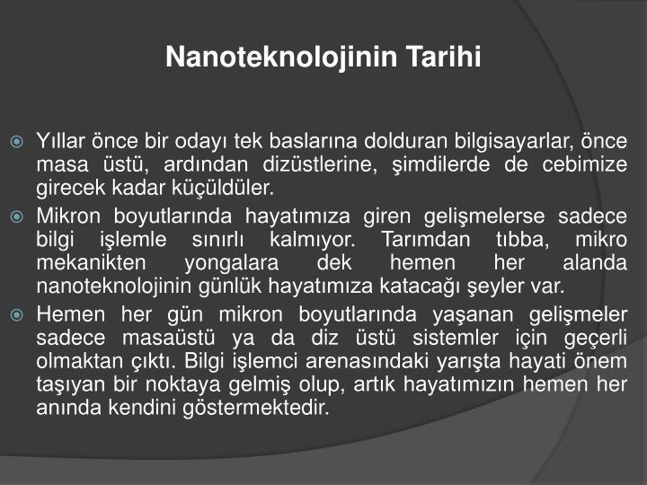 Nanoteknolojinin Tarihi