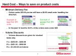 hard cost ways to save on product costs6