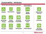 sustainability attributes