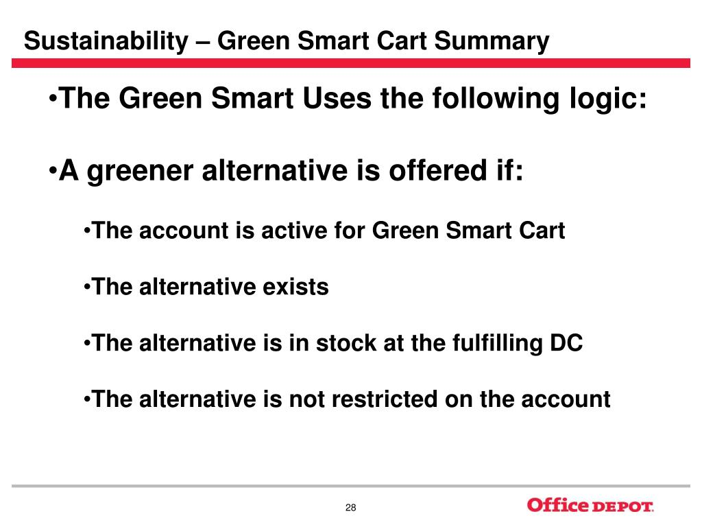Sustainability – Green Smart Cart Summary