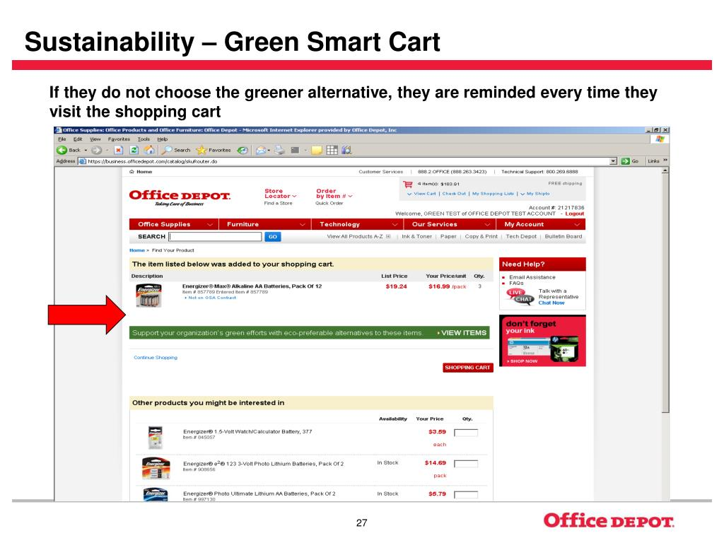 Sustainability – Green Smart Cart