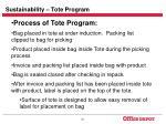 sustainability tote program30