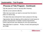 sustainability tote program31