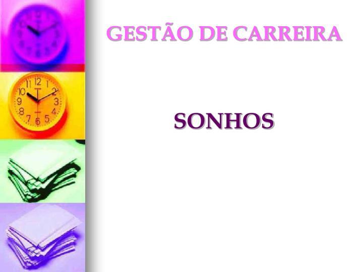 GESTÃO DE CARREIRA