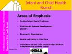 infant and child health branch