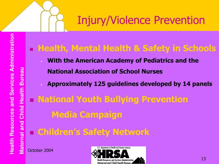 Injury/Violence Prevention