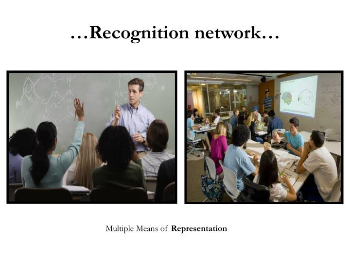 …Recognition network…