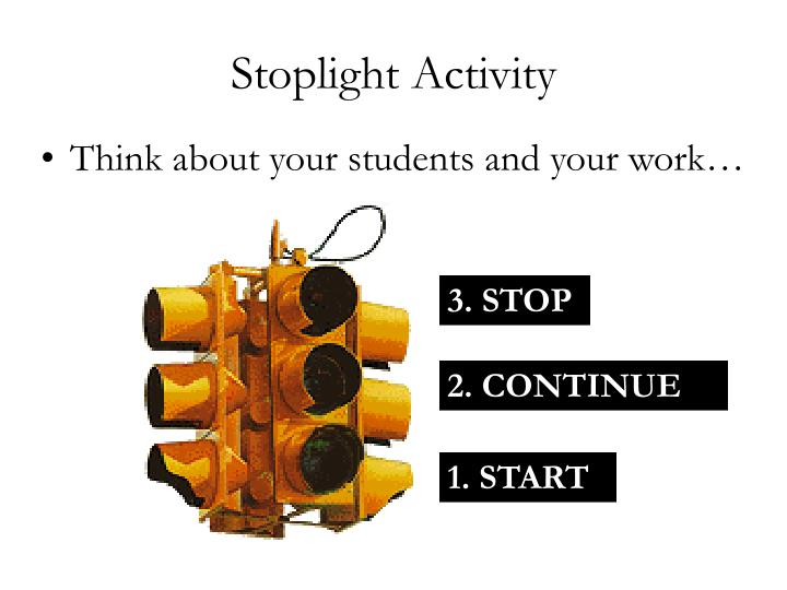 Stoplight Activity
