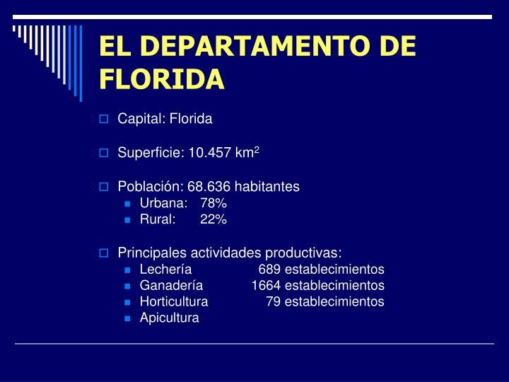 EL DEPARTAMENTO DE FLORIDA