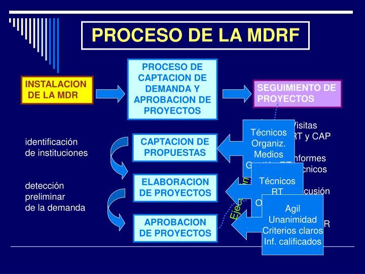 PROCESO DE LA MDRF