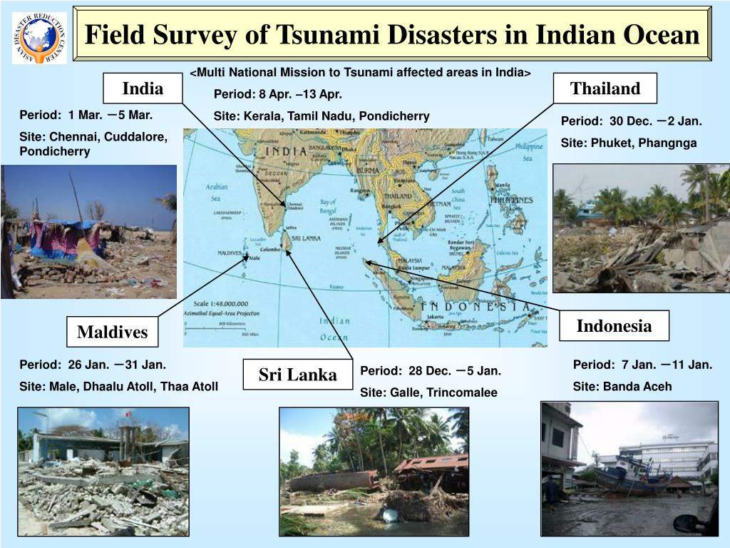 Field Survey of Tsunami Disasters in Indian Ocean