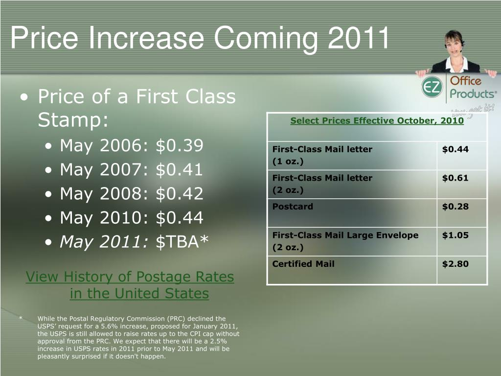 Price Increase Coming 2011