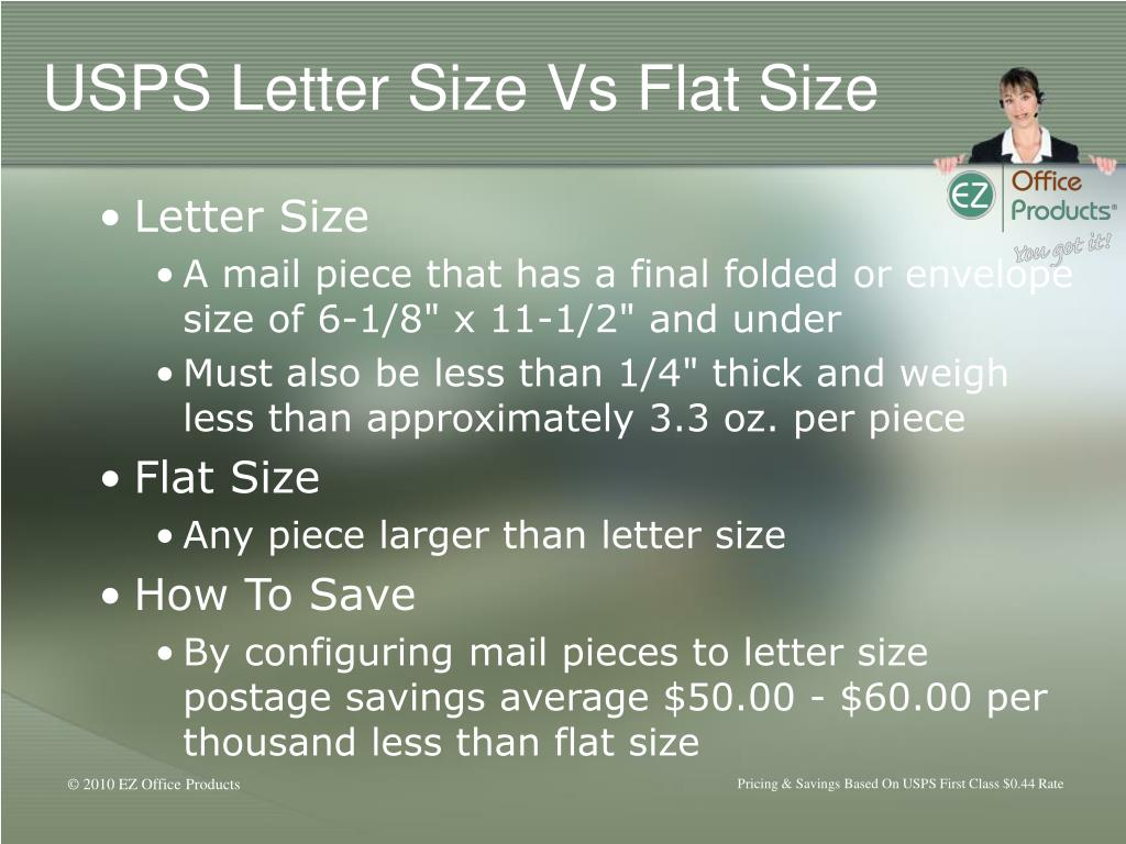USPS Letter Size Vs Flat Size