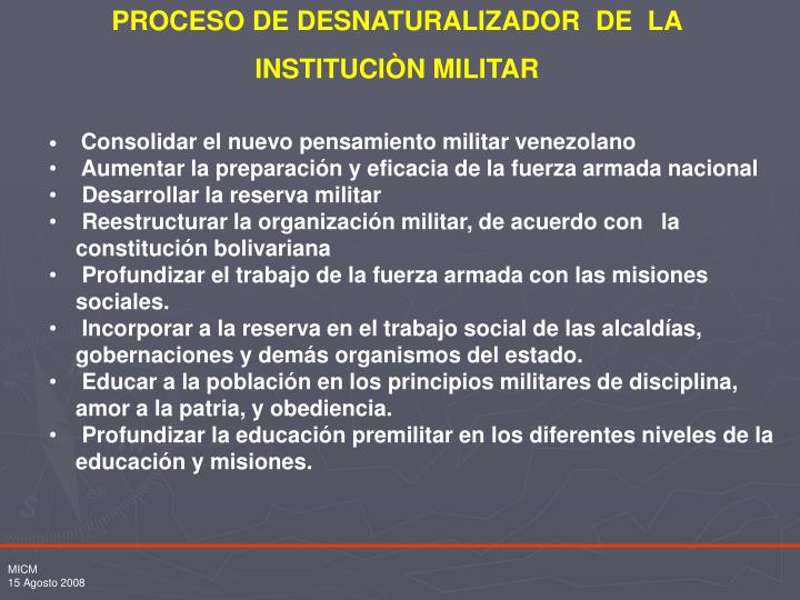 PROCESO DE DESNATURALIZADOR  DE  LA