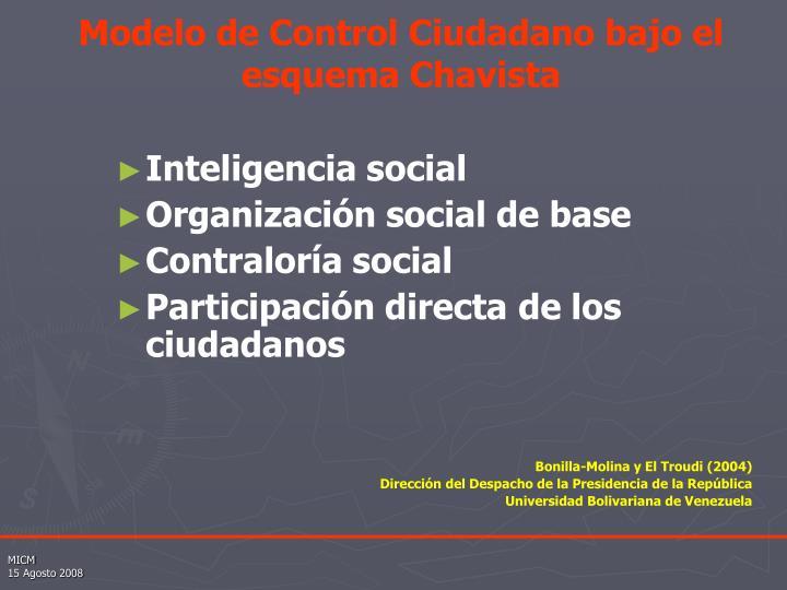 Modelo de Control Ciudadano bajo el esquema Chavista