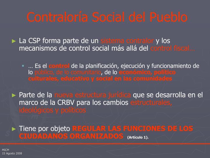 Contraloría Social del Pueblo