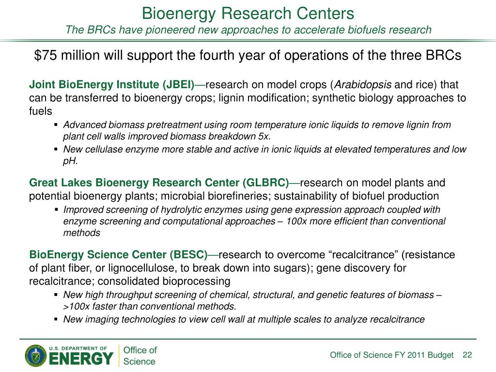 Bioenergy Research Centers