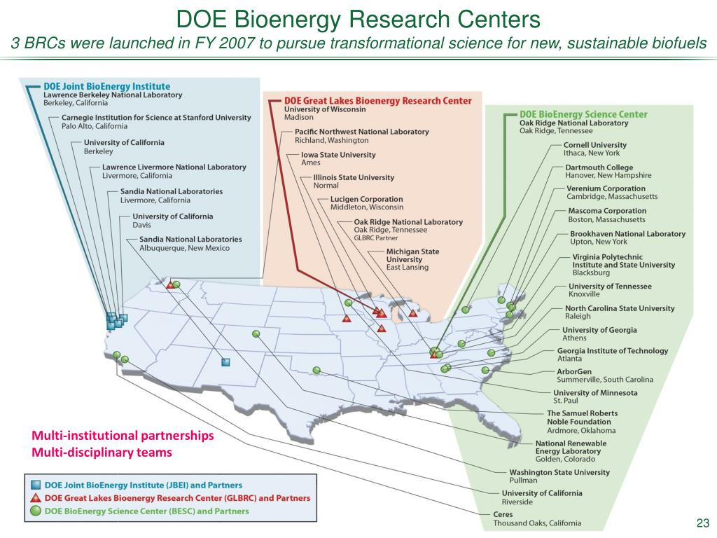 DOE Bioenergy Research Centers
