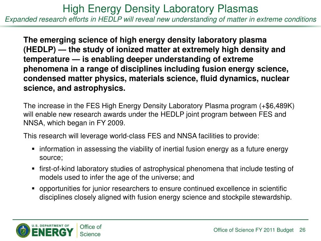 High Energy Density Laboratory Plasmas