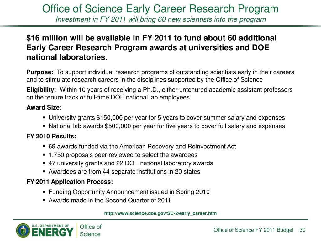 Office of Science Early Career Research Program