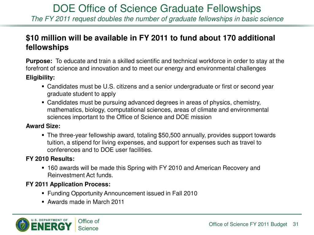 DOE Office of Science Graduate Fellowships